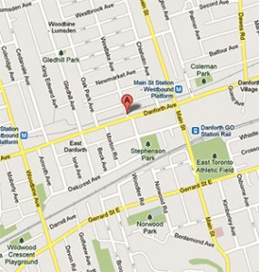 Map and directions for Mously Tax Preparation in Toronto, Ontario
